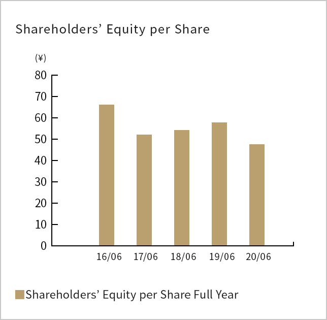 Shareholders'Equity per Share